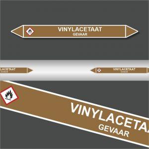 Leidingstickers Leidingmarkering Vinylacetaat (Ontvlambare vloeistoffen)