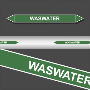 Leidingstickers Leidingmarkering Waswater (Water)