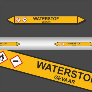 Leidingstickers Leidingmarkering Waterstof (Gassen)