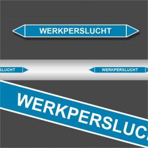 Leidingstickers Leidingmarkering Werkperslucht (Lucht)