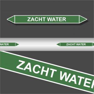 Leidingstickers Leidingmarkering Zacht water (Water)