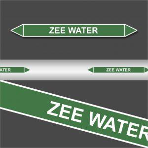 Leidingstickers Leidingmarkering Zee water (Water)