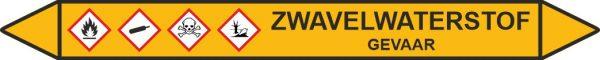 Leidingstickers Leidingmarkering Zwavelwaterstof (Gassen)