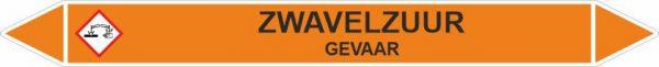 Leidingstickers Leidingmarkering Zwavelzuur (Zuren)