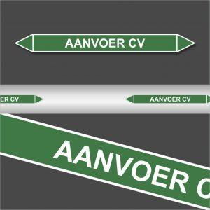 Leidingstickers Leidingmarkering aanvoer CV (Water)