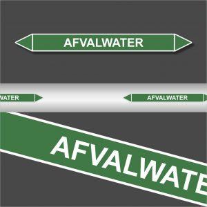 Leidingstickers Leidingmarkering afvalwater (Water)