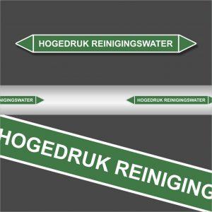Leidingstickers Leidingmarkering hogedruk reinigingswater (Water)