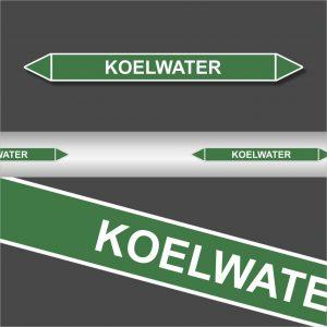Leidingstickers Leidingmarkering koelwater (Water)
