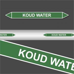 Leidingstickers Leidingmarkering koud water (Water)