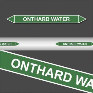 Leidingstickers Leidingmarkering onthard water (Water)