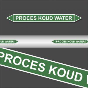 Leidingstickers Leidingmarkering proces koud water (Water)