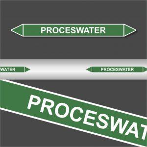 Leidingstickers Leidingmarkering proceswater (Water)