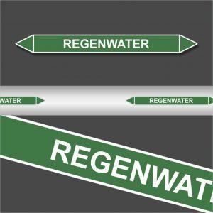 Leidingstickers Leidingmarkering regenwater (Water)