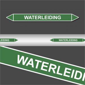 Leidingstickers Leidingmarkering waterleiding (Water)