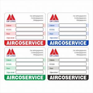 Onderhoud stickers airco onderhoud service