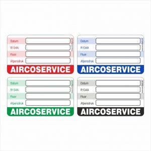 Onderhoud stickers aircoservice universeel