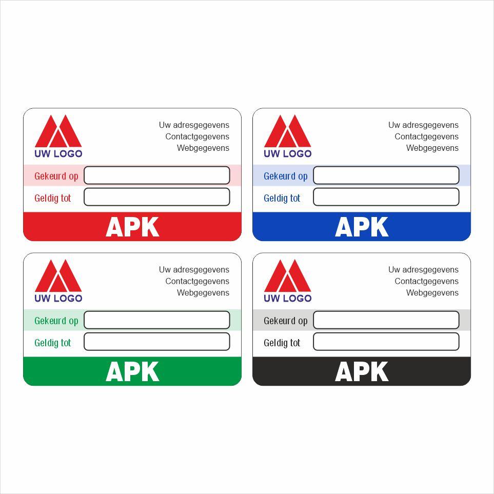 Onderhoud stickers apk uitgevoerd op