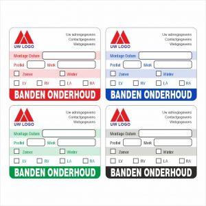 Onderhoud stickers banden onderhoud