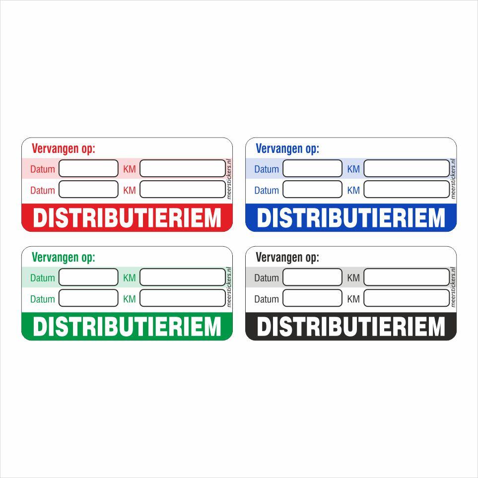 Onderhoud stickers distributieriem vervangen universeel