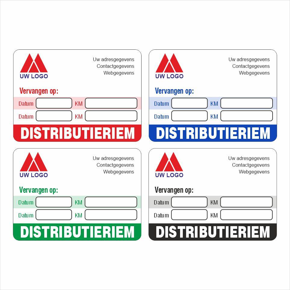 Onderhoud stickers distributieriem vervangen voor