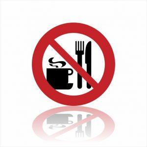 Pictogram etenswaren verboden sticker