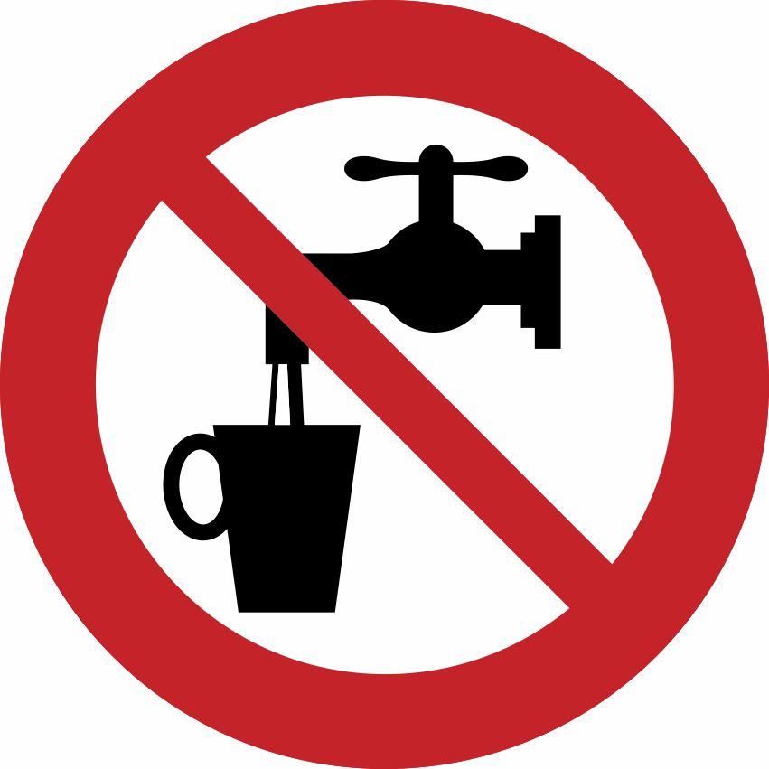 Pictogram geen drinkwater sticker - MeerStickers.nl