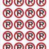 Pictogram niet parkeren sticker 25mm