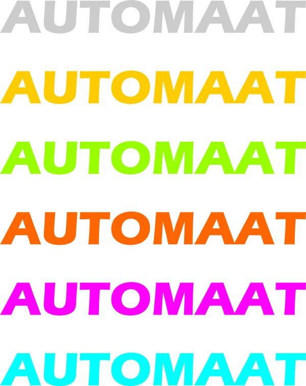 Autoraam stickers automaat