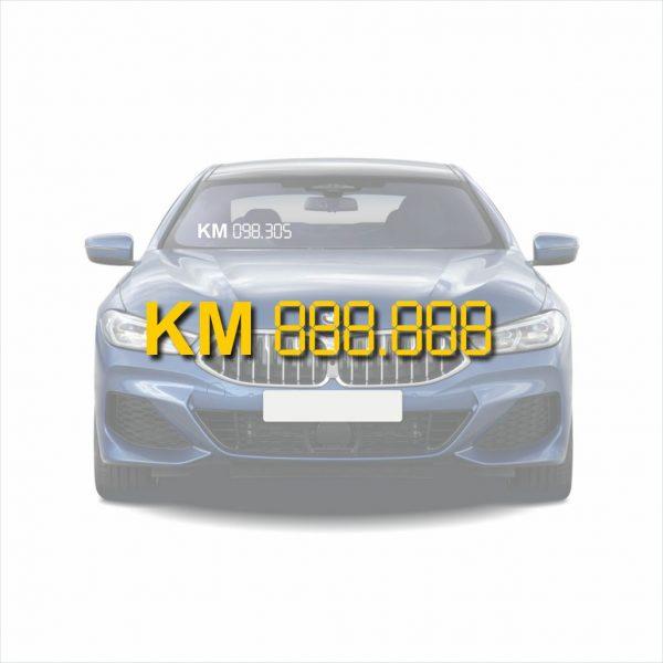 autoraam stickers kilometer stand