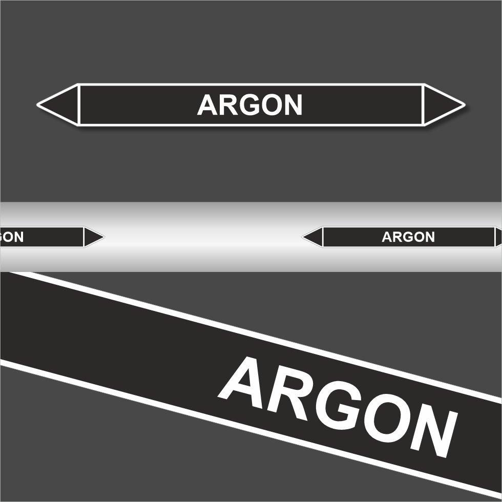 Leiding MMarkeringen Stickers Argon (Onontvlambare Vloeistoffen)