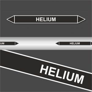 Leiding Markeringen Stickers Helium (Onontvlambare Vloeistoffen)