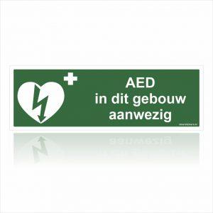 AED in dit gebouw aanwezig Stickers
