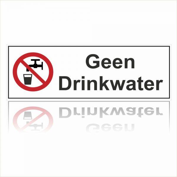 Pictogram geen drinkwater rechthoekig sticker