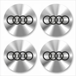 Wielnaaf stickers Audi Chrome