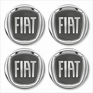 Wielnaaf sticker Fiat Grijs