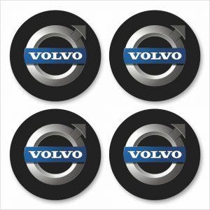 Wielnaaf stickers Volvo zwart