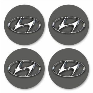 Wielnaaf stickers Hyundai antraciet