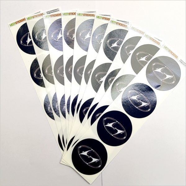 Wielnaaf stickers Hyundai zwart
