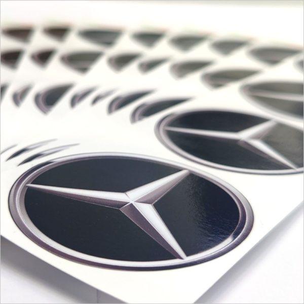 Wielnaaf stickers Mercedes Zwart