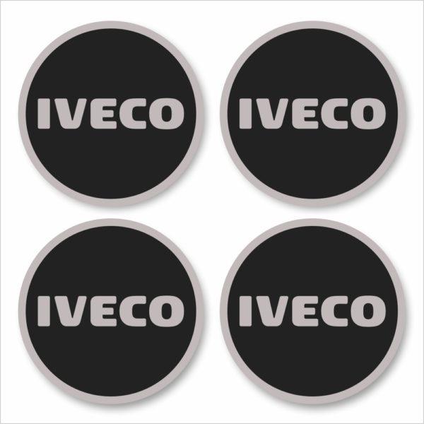 Wielnaaf stickers Iveco zwart grijze rand